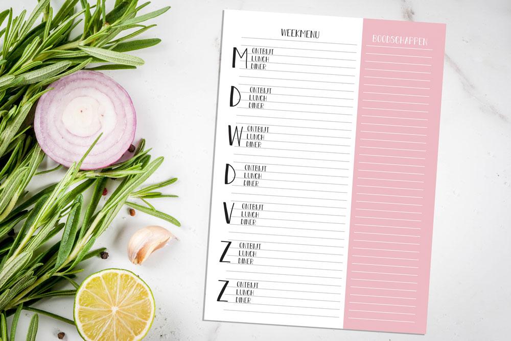 weekmenu-planner-weekplanner