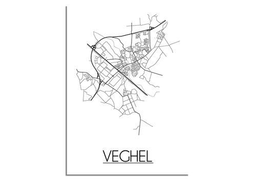 DesignClaud Veghel Stadtplan-poster