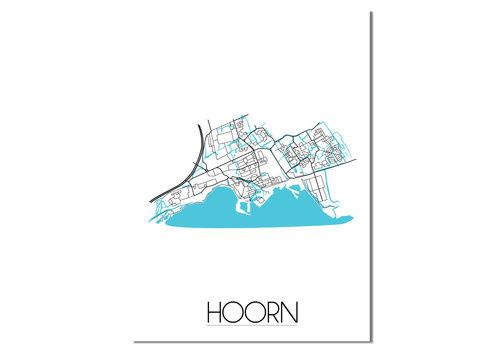 DesignClaud Hoorn Stadtplan Karte Poster
