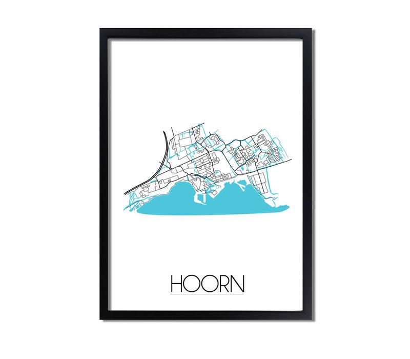 Hoorn Plattegrond poster