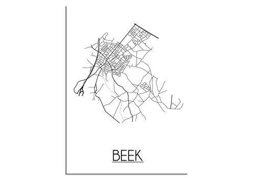 DesignClaud Beek Stadtplan-poster