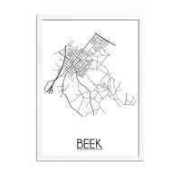 Beek Plattegrond poster