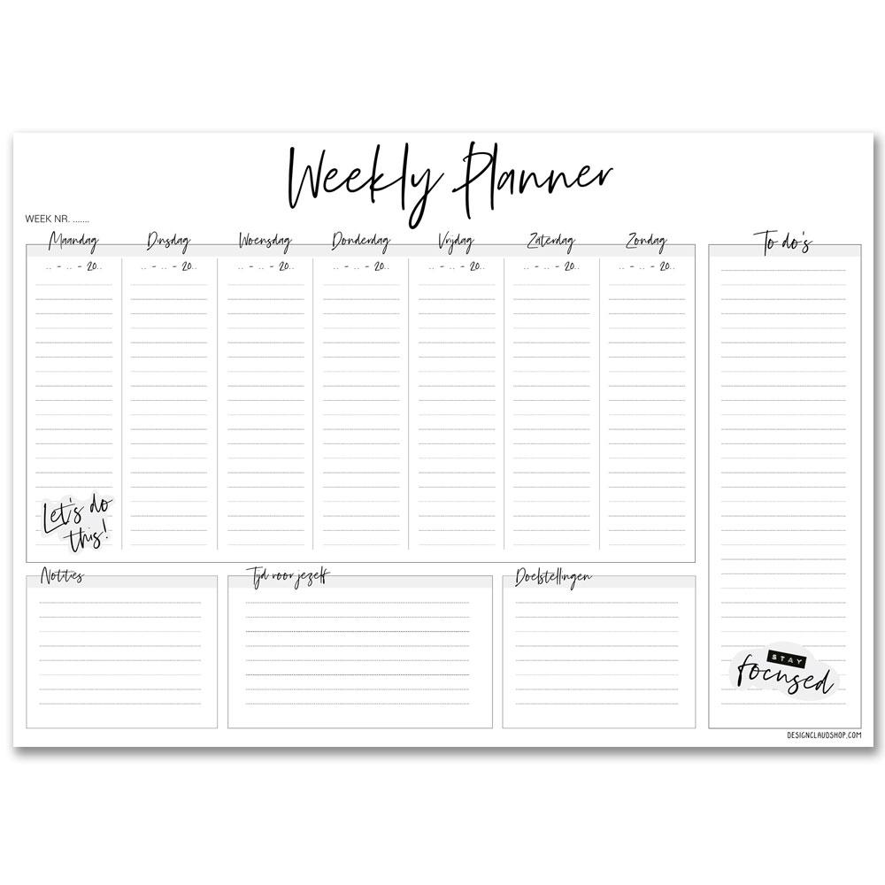 weekplanner-weekkalender-weekly-planner