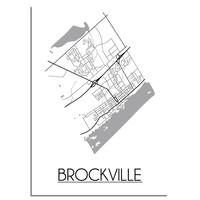 Brockville Stadtplan-poster