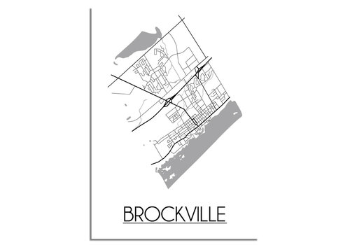 DesignClaud Brockville Plattegrond poster