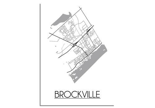 DesignClaud Brockville Stadtplan-poster