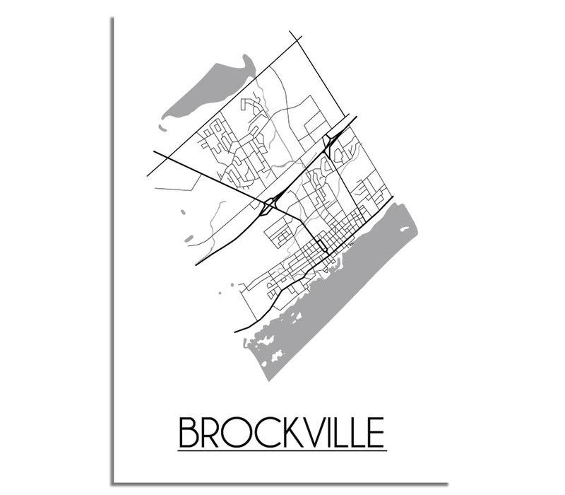 Brockville Plattegrond poster