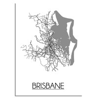 Brisbane Plattegrond poster