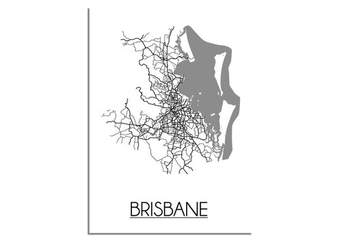 DesignClaud Brisbane Stadtplan-poster