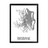 Brisbane Stadtplan-poster