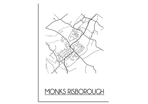 DesignClaud Monks Risborough Stadtplan-poster