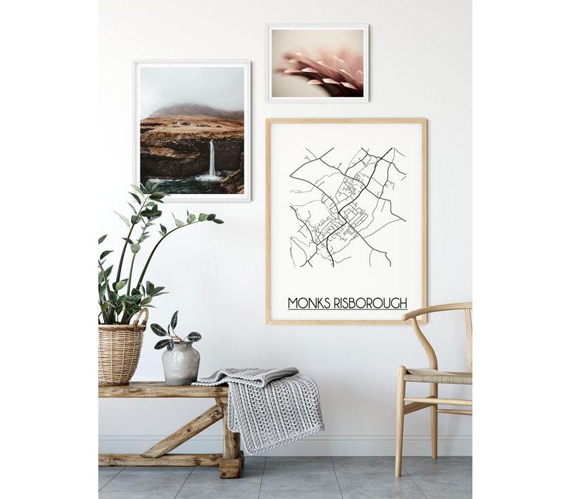 Monks Risborough Plattegrond poster