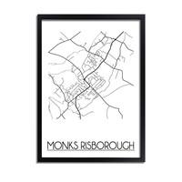 Monks Risborough Stadtplan-poster