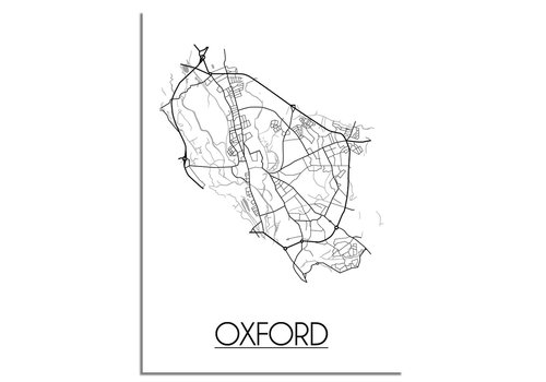 DesignClaud Oxford Plattegrond poster