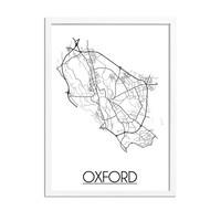 Oxford Plattegrond poster