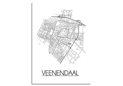 DesignClaud Veenendaal Plattegrond poster
