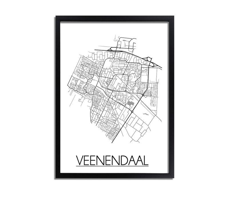 Veenendaal Plattegrond poster