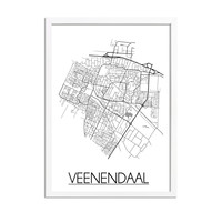Veenendaal Stadtplan-poster
