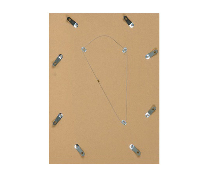 Houten wissellijst - Fotolijst met Glas - 3D effect - Roze + Wit