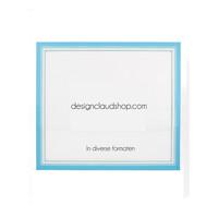 Houten wissellijst Lichtblauw + Wit Fotolijst met Glas - 3D effect