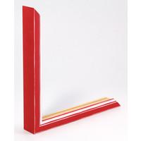 Holz-Wechselrahmen Rot + Weiß Bilderrahmen mit Glas - 3D Effekt
