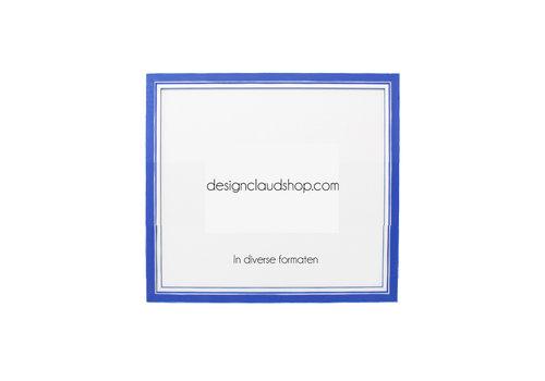 DesignClaud Houten wissellijst Blauw + Wit Fotolijst met Glas - 3D effect