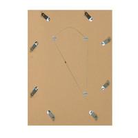 Houten wissellijst -  Fotolijst met Glas - 3D effect - Geel + Wit