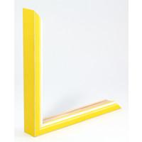 Houten wissellijst Geel + Wit Fotolijst met Glas - 3D effect