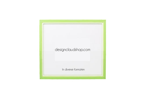 DesignClaud Holz-Wechselrahmen Grün + Weiß Bilderrahmen mit Glas - 3D Effekt
