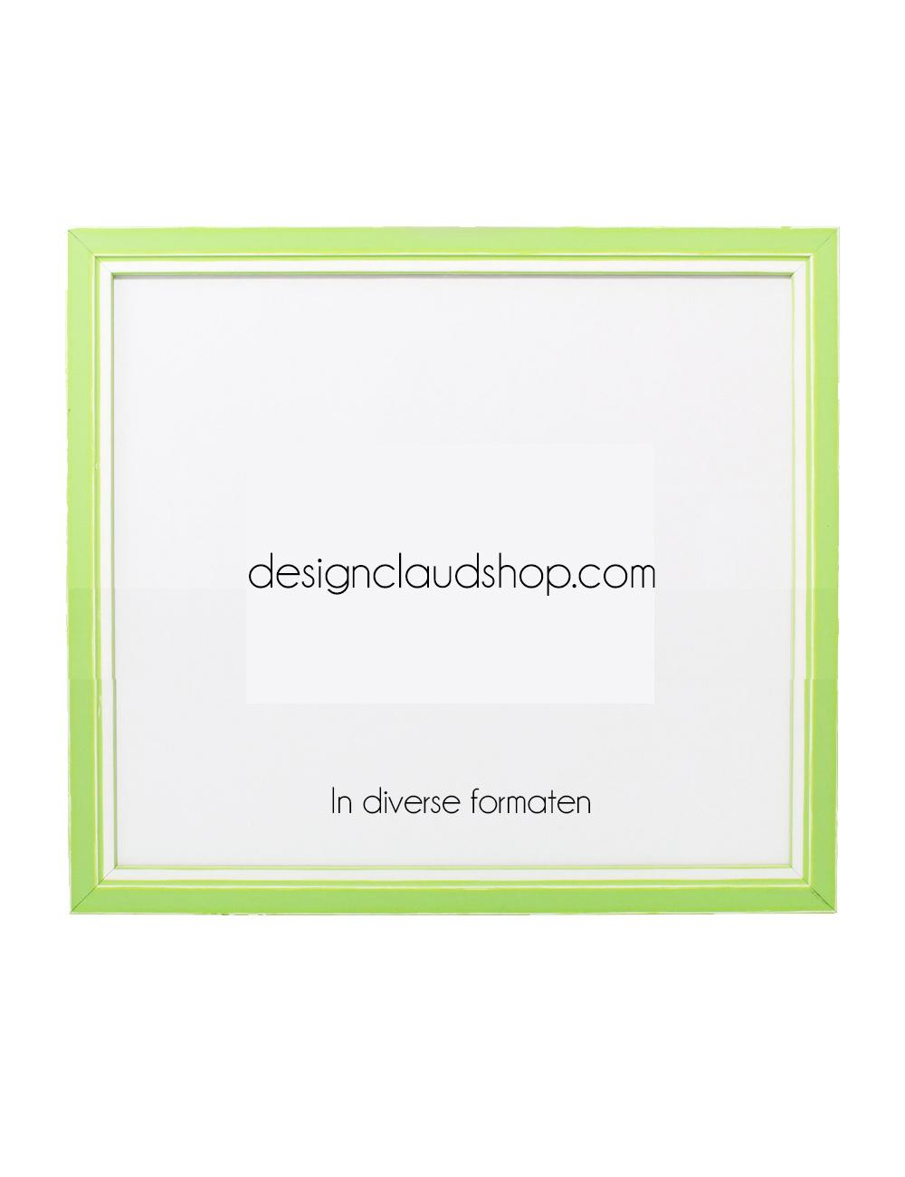 Witte Houten Fotolijst.Houten Wissellijst Groen Wit Fotolijst Met Glas 3d Effect