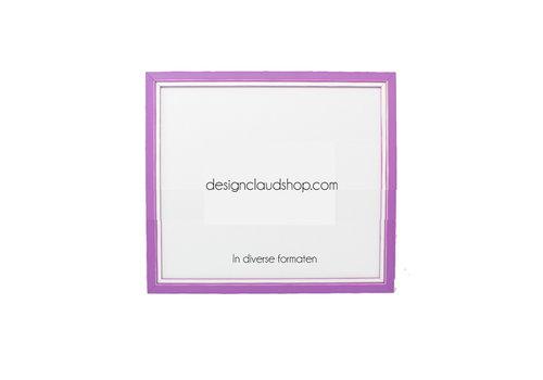 DesignClaud Holz-Wechselrahmen Violett + Weiß Bilderrahmen mit Glas - 3D Effekt