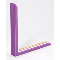 Holz-Wechselrahmen Violett + Weiß Bilderrahmen mit Glas - 3D Effekt