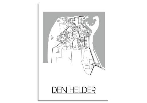 DesignClaud Den Helder Plattegrond poster