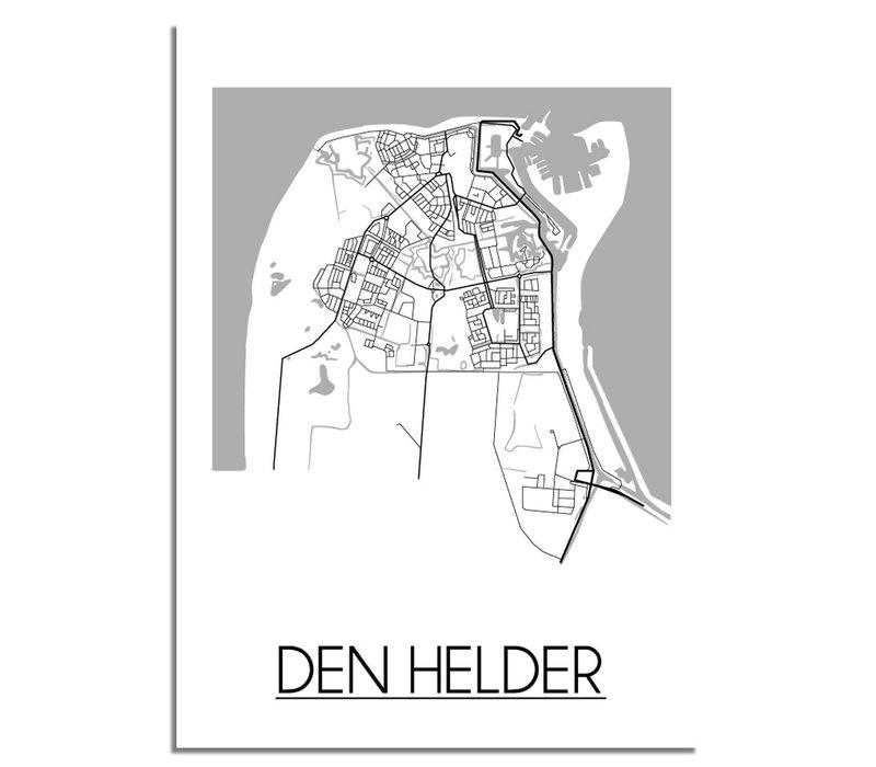 Den Helder Plattegrond poster