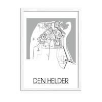 Den Helder Stadtplan-poster
