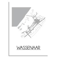 Wassenaar Plattegrond poster