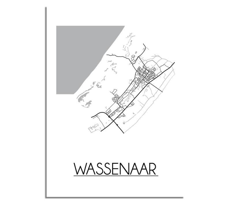 Wassenaar Stadtplan-poster