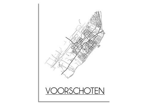 DesignClaud Voorschoten Plattegrond poster