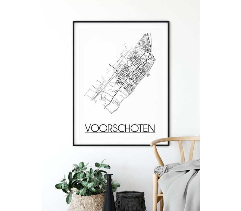 Voorschoten Plattegrond poster