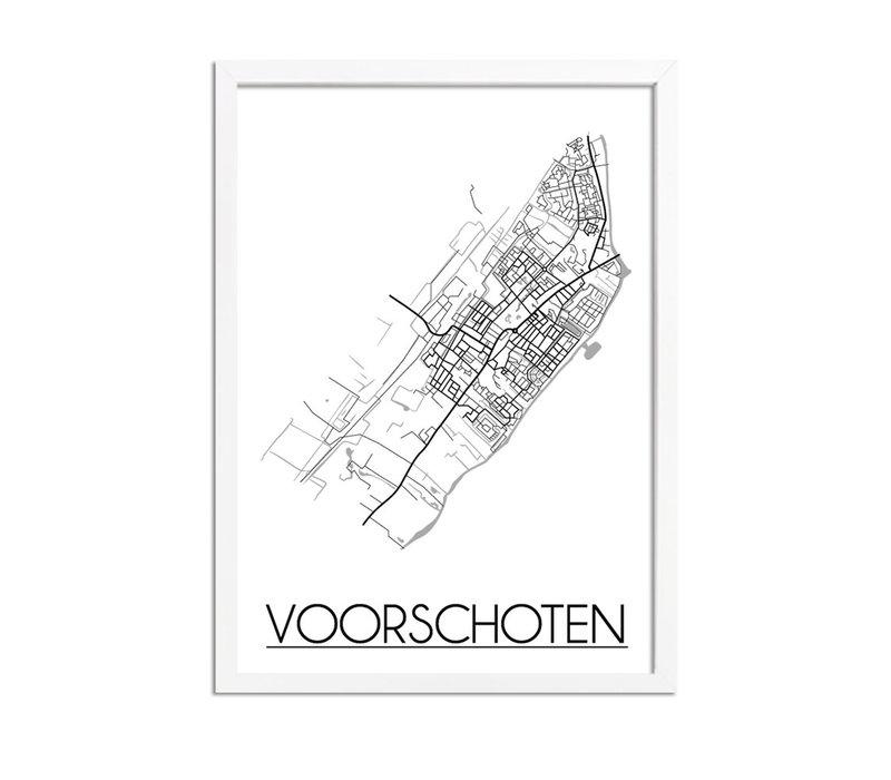 Voorschoten Stadtplan-poster