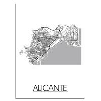 Alicante Plattegrond poster
