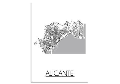 DesignClaud Alicante Stadtplan-poster