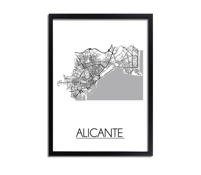 Alicante Stadtplan-poster