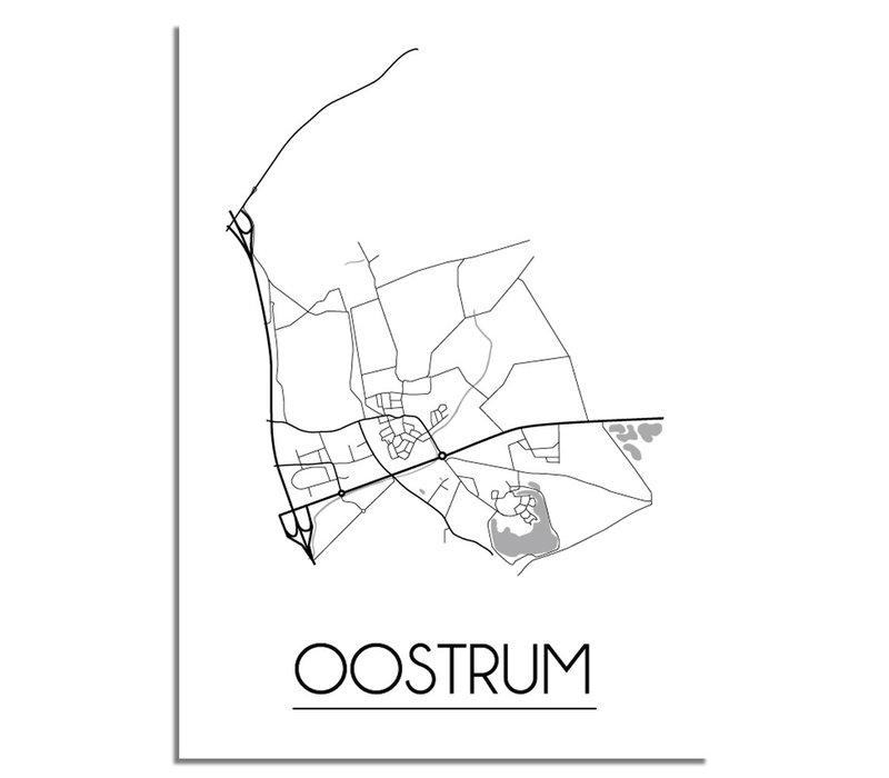 Oostrum Stadtplan-poster