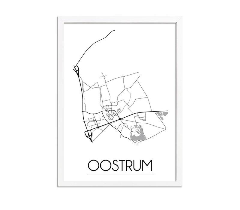 Oostrum Plattegrond poster