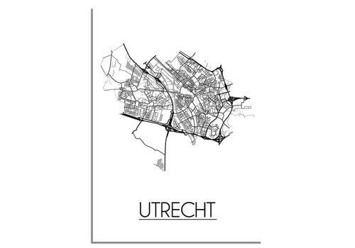 DesignClaud Utrecht Stadtplan-poster