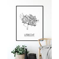 Utrecht Plattegrond poster