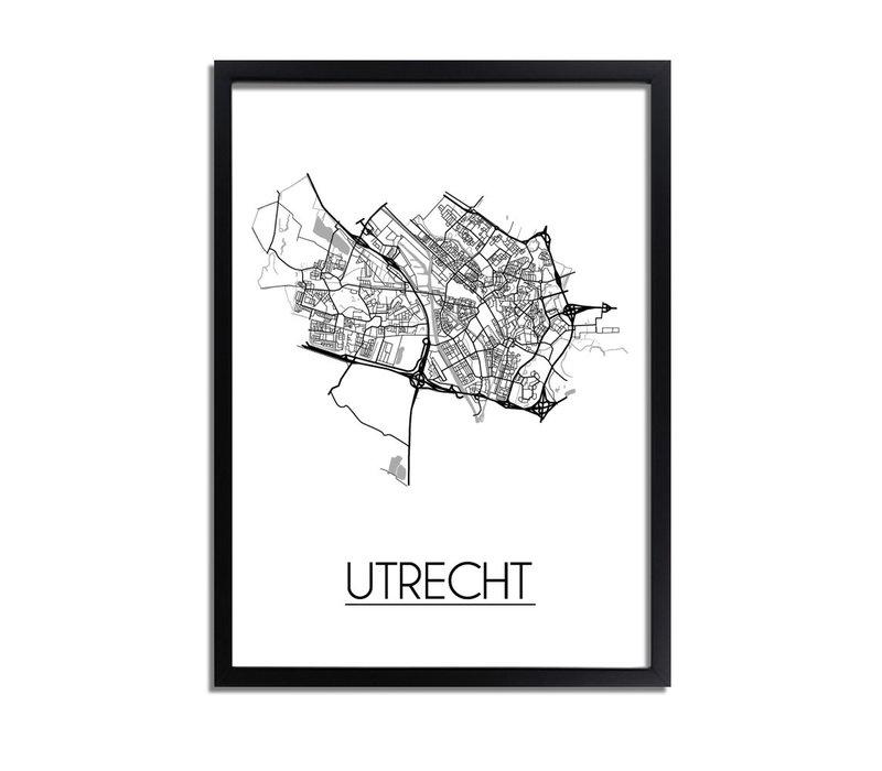 Utrecht Stadtplan-poster