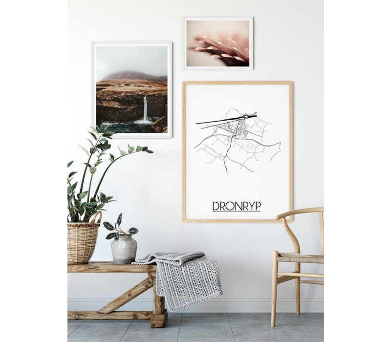 Dronryp Plattegrond poster