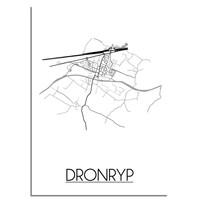 Dronryp Stadtplan-poster